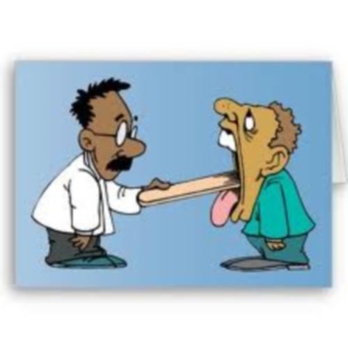 cartoon of medical examination