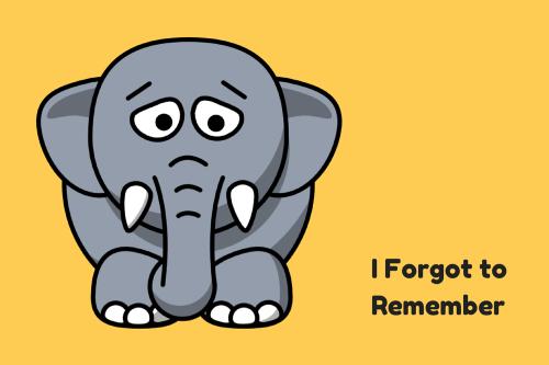 I-Forgot-to-Remember