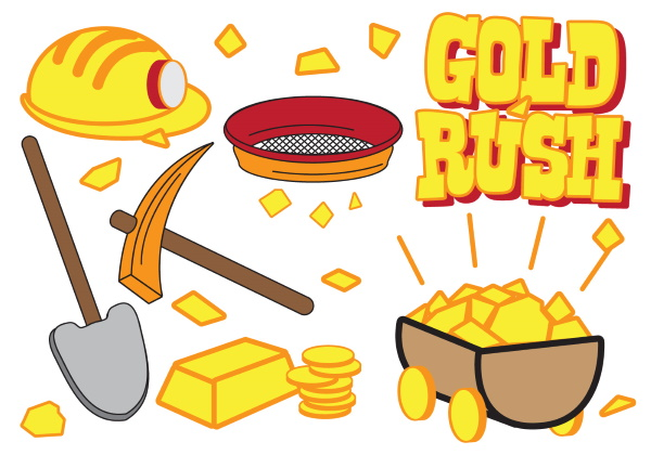 vector-gold-rush-icon-set