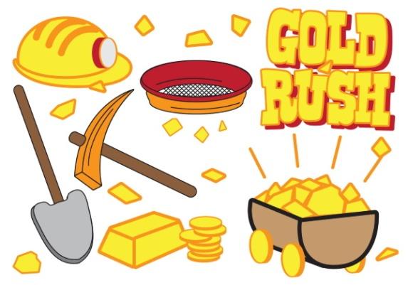 vector-gold-rush-icon-set